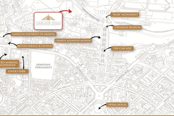 Cascade Hills Residential Complex Location