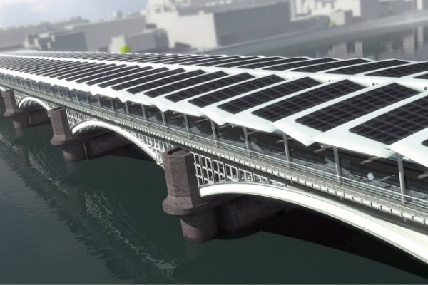 Work Starts On Solar Bridge At Blackfriars Station