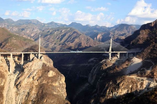 Mexico Inaugurates World's Tallest Cable-Stayed Bridge