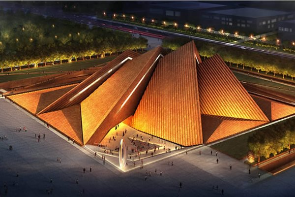 New Steel Pyramid Passive Art Museum to Build In China