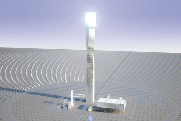 World's Largest Solar Thermal Power Plant Taking Shape