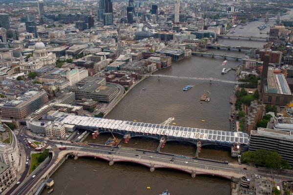 Blackfriars Solar Bridge Reaches Halfway Point