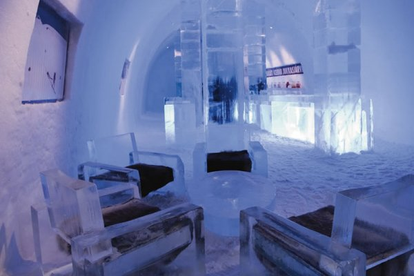 The Ice Hotel of Santa Claus