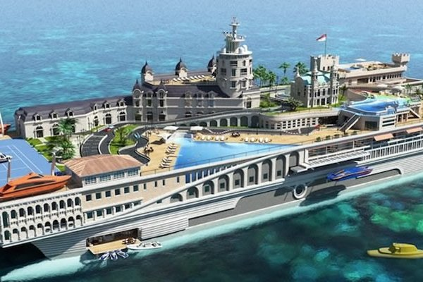 Super Luxurious Yacht Is A Floating Replica Of Monaco