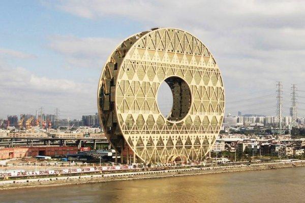 Golden Doughnut - Unusual Skyscraper In China