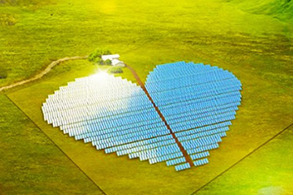 Heart-Shaped Solar Farm Is the World's Most Beautiful Photovoltaic Plant!