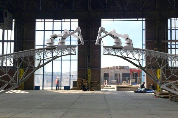 New 3D-Printed Steel Pedestrian Bridge To Be Printed In Amsterdam