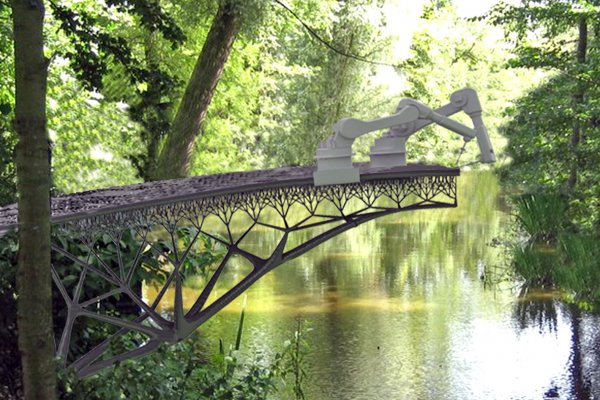 New 3D-Printed Steel Pedestrian Bridge To Be Printed In Amsterdam