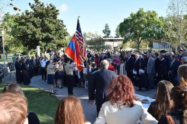 Groundbreaking Ceremony Of Armenian Genocide Monument Held in Fresno