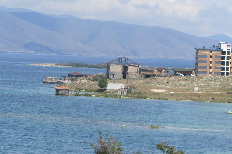 Structure in water near village Tsovasar