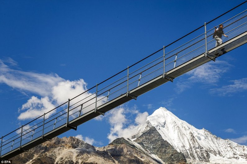 World's Longest Hanging Pedestrian Bridge Opened In Switzerland