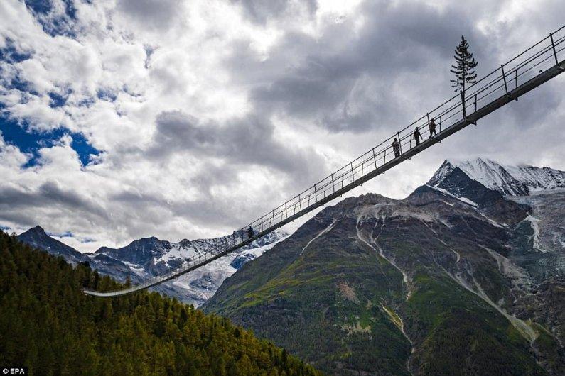 World's Longest Hanging Pedestrian Bridge Opened In Switzerland