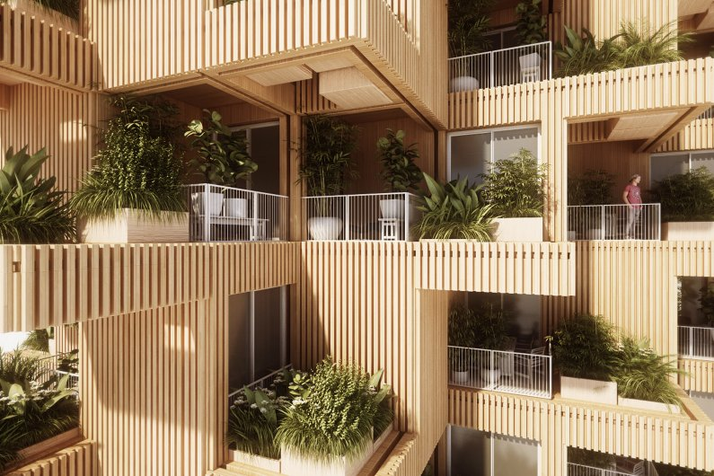 Wood, Green And Modular Construction In One Project