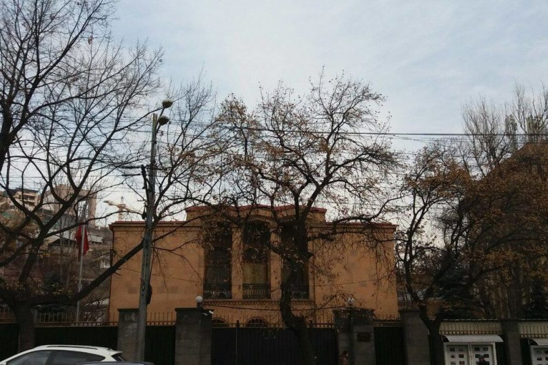 Current China Embassy Building at 12 Baghramyan Ave.