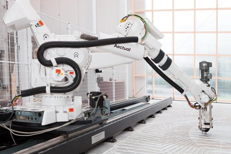 Robotic 3D Printers Create Floors In Any Pattern