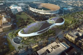 "Futuristic ""Spaceship"" Museum Breaks Ground In Los Angeles"