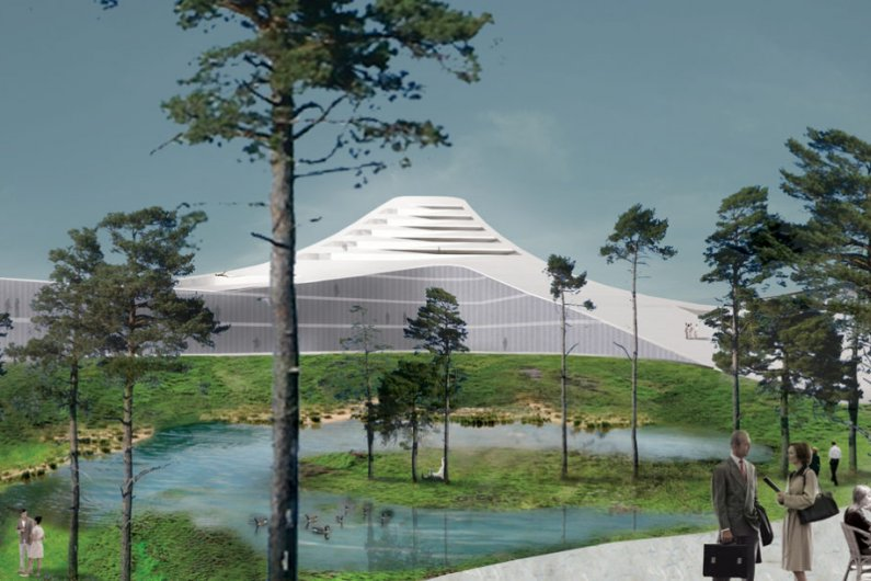 "The ""Dutch Mountains"" Will Be the World's Largest Wooden Building"