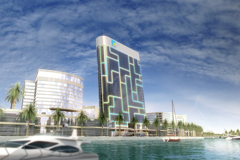 Residential High-Rise In Dubai Designed To Look Like An iPod