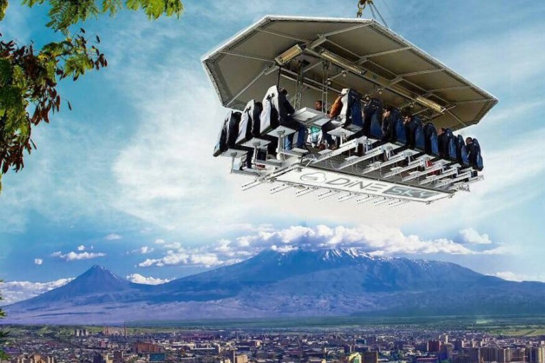 Dine Sky: Flying Restaurant in Armenia