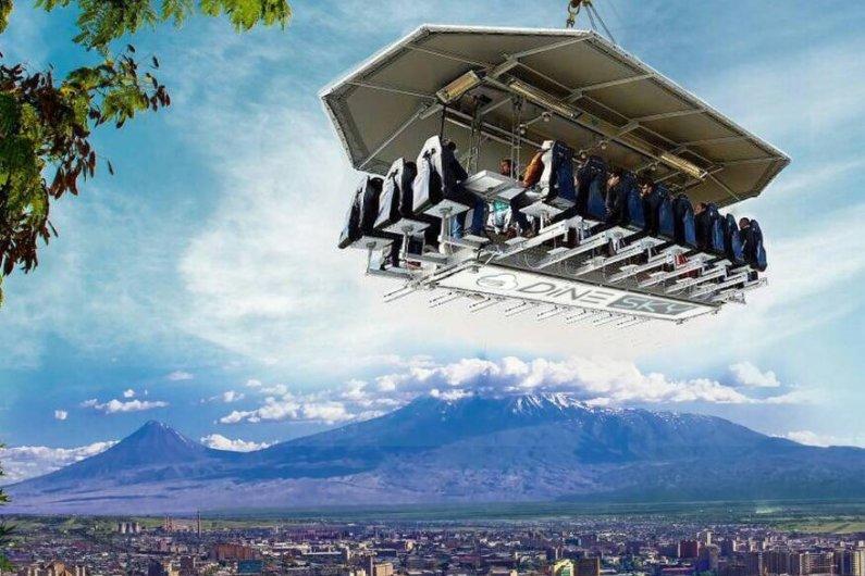Dine Sky: Flying Restaurant in Armenia