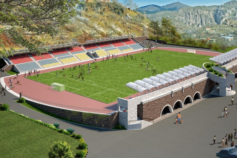 Goris football stadium new design