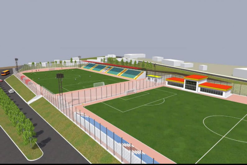 Goris football stadium preliminary design with 2 pitches