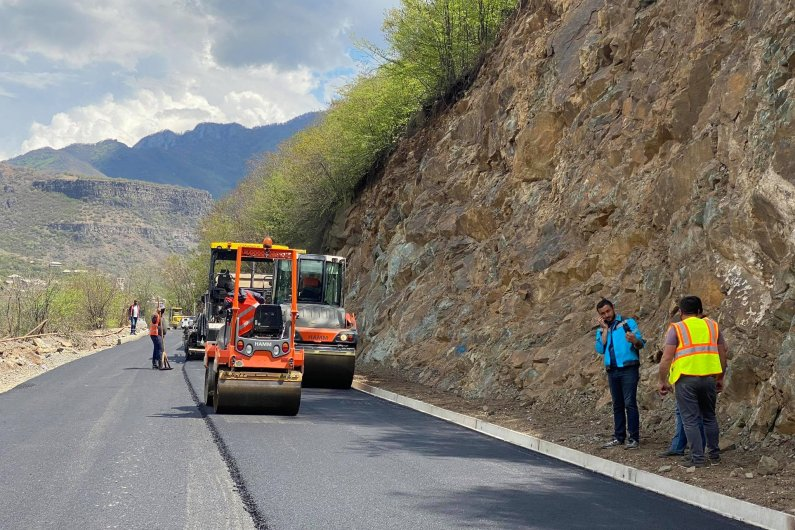 The Tumanyan-Bagratashen Section of the M6 Interstate Road is Being Renovated