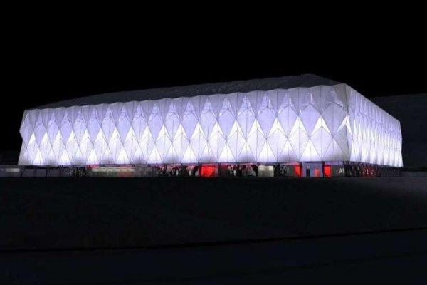 Construction Of Temporary Basketball Olympic Arena Completed In London