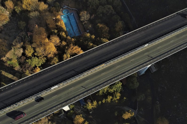 Ashtarak Bridge  after asphalt pavement