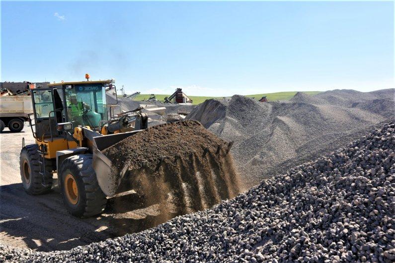 Company owns a stone quarry