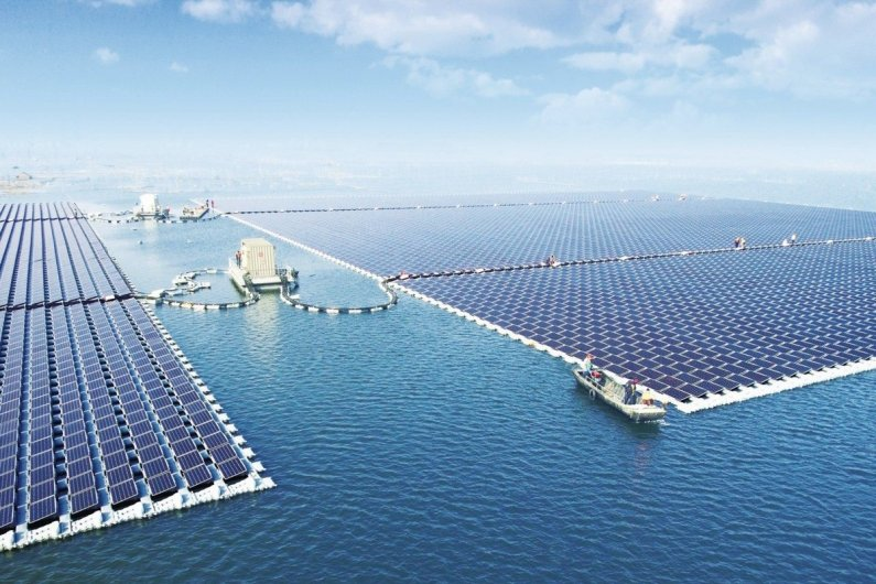 Floating solar station