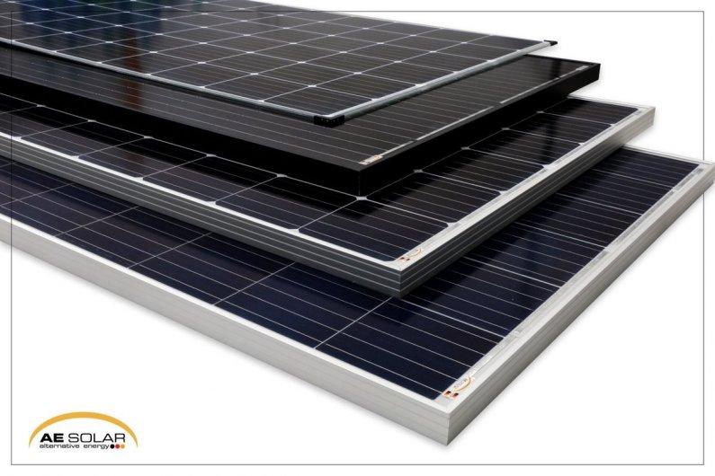 AE Solar - ի պանելները, միաբյուրեղ - բազմաբյուրեղ