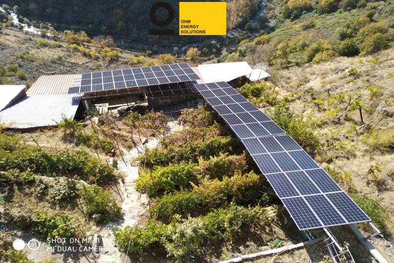 Solar photovoltaic station
