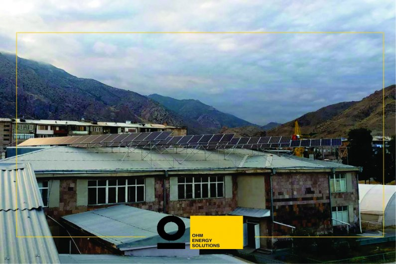 Solar power system in one of the schools of Agarak