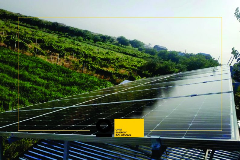 A 5 kW solar power system in Parakar
