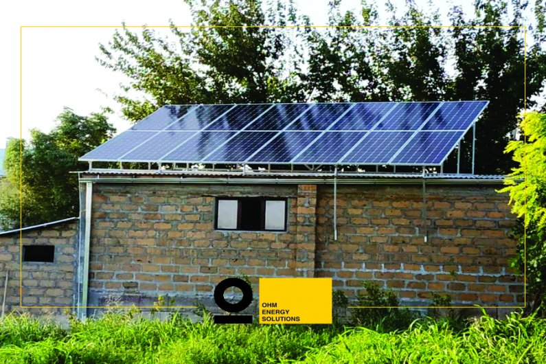 Solar power system in Parakar