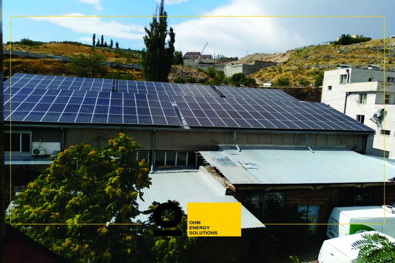 Solar power system on the roof of Bonilat LLC