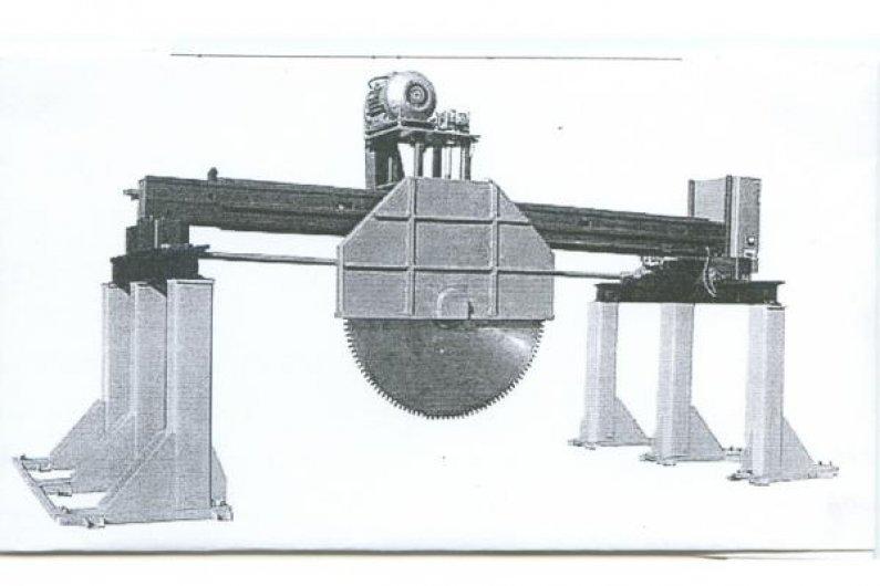 3-մետրային սղոցով կտրող հաստոց